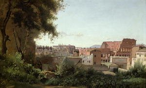 Reproduction oil paintings - Jean-Baptiste-Camille Corot - View of the Colosseum from the Farnese Gardens, 1826
