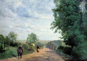 Reproduction oil paintings - Jean-Baptiste-Camille Corot - The Road to Sevres, 1858-59