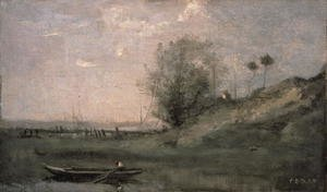 Reproduction oil paintings - Jean-Baptiste-Camille Corot - Breakwater, Normandy