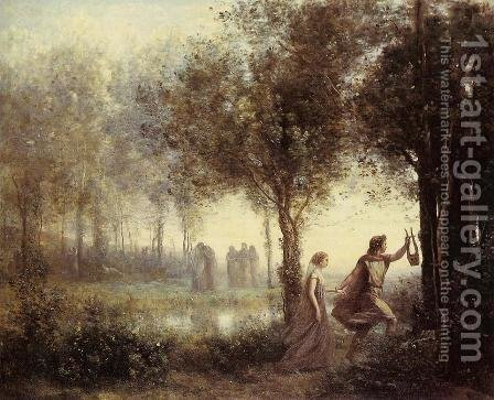 Jean-Baptiste-Camille Corot: Orpheus Leading Eurydice from the Underworld, 1861 - reproduction oil painting