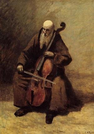 Reproduction oil paintings - Jean-Baptiste-Camille Corot - The Monk, 1874