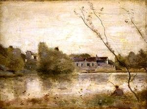 Reproduction oil paintings - Jean-Baptiste-Camille Corot - The Pond from the Villa d'Avray, 1865