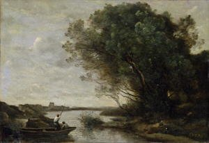 Reproduction oil paintings - Jean-Baptiste-Camille Corot - River Landscape