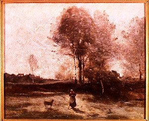 Reproduction oil paintings - Jean-Baptiste-Camille Corot - Landscape or, Morning in the Field