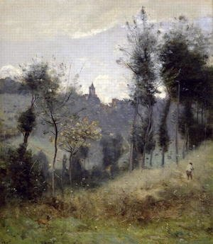 Reproduction oil paintings - Jean-Baptiste-Camille Corot - Canteleu near Rouen