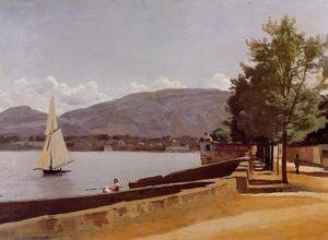Reproduction oil paintings - Jean-Baptiste-Camille Corot - The Quai des Paquis, Geneva, c.1842