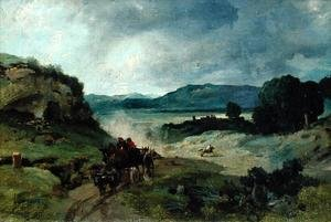 Reproduction oil paintings - Jean-Baptiste-Camille Corot - Roman Landscape, 1827