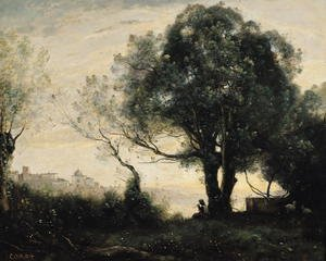 Reproduction oil paintings - Jean-Baptiste-Camille Corot - Souvenir of Castel Gandolfo
