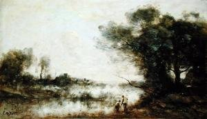 Reproduction oil paintings - Jean-Baptiste-Camille Corot - The Pond