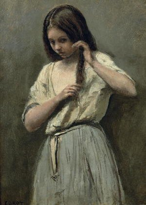 Reproduction oil paintings - Jean-Baptiste-Camille Corot - Young Girl at her Toilet