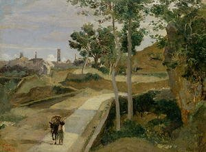 Reproduction oil paintings - Jean-Baptiste-Camille Corot - Road from Volterra
