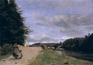 Reproduction oil paintings - Jean-Baptiste-Camille Corot - Landscape with Mother and Children