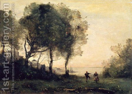 Jean-Baptiste-Camille Corot: Souvenir of Italy - reproduction oil painting