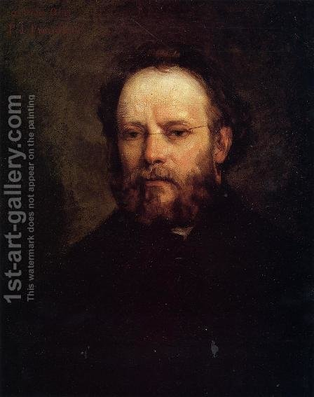 Portrait of Pierre Joseph Proudhon (1809-65) 1865 by Gustave Courbet - Reproduction Oil Painting