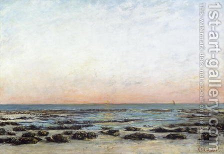 Sunset, Trouville, c. 1870 by Gustave Courbet - Reproduction Oil Painting