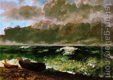 The Stormy Sea or, The Wave, 1870 by Gustave Courbet - Reproduction Oil Painting