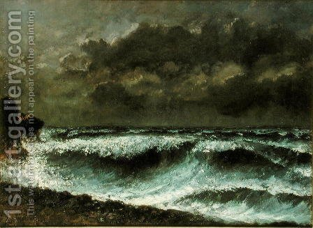 Squall on the Horizon, c.1872 by Gustave Courbet - Reproduction Oil Painting