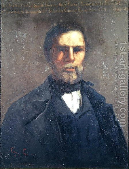 Portrait of Theodore Cuenot, 1847 by Gustave Courbet - Reproduction Oil Painting