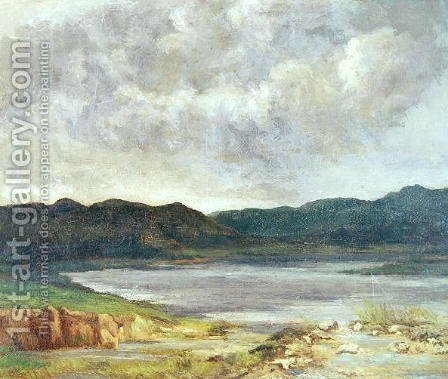 The Black Lake, 1872 by Gustave Courbet - Reproduction Oil Painting