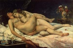 Famous paintings of Furniture: Le Sommeil, 1866