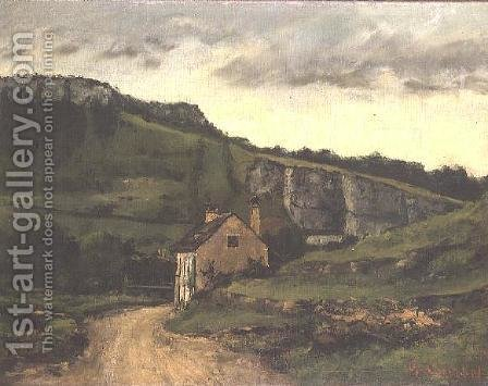 A Country Cottage by Gustave Courbet - Reproduction Oil Painting