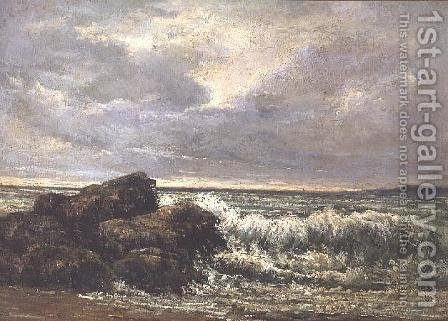 The Wave, 1869 2 by Gustave Courbet - Reproduction Oil Painting