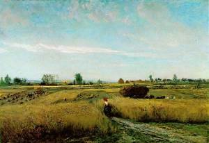 Reproduction oil paintings - Charles-Francois Daubigny - The Harvest, 1851