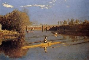 Famous paintings of Other: Max Schmitt in a Single Scull, 1871