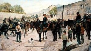 Reproduction oil paintings - Giovanni Fattori - Military Exercises, 1890