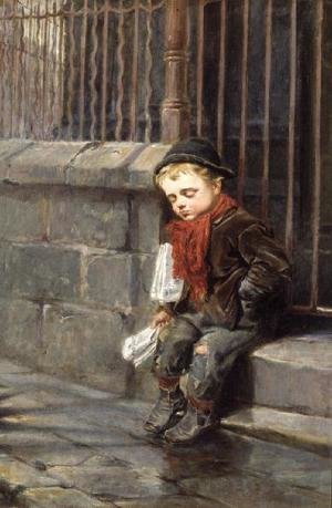 Famous paintings of Palisades: The News Boy