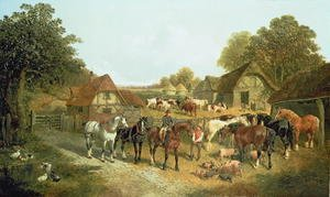 Realism painting reproductions: An English Homestead