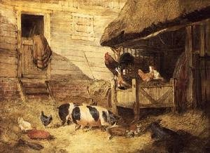 Realism painting reproductions: Farmyard Scene 2