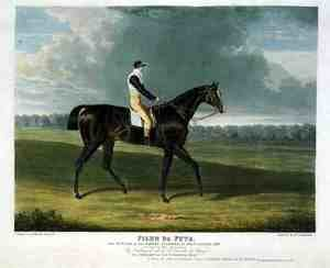 Famous paintings of Animals: 'Filho da Puta', the Winner of the Great St. Leger at Doncaster, 1815