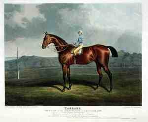 Realism painting reproductions: 'Tarrare', the Winner of the Great St. Leger at Doncaster, 1826