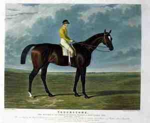 Realism painting reproductions: 'Touchstone', the Winner of the Great St. Leger Stakes at Doncaster, 1834