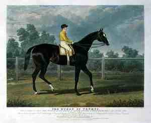 Realism painting reproductions: 'Queen of Trumps', Won the Oaks Stakes (the Winner of the Great St. Leger Stakes at Doncaster, 1835) at Epsom, 1835