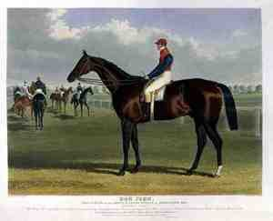 Realism painting reproductions: 'Don John', the Winner of the Great St. Leger Stakes at Doncaster, 1838