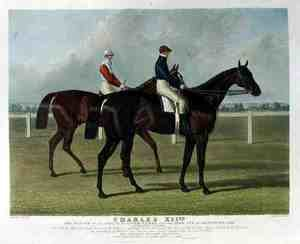 Famous paintings of Horses & Horse Riding: 'Charles XII', the Winner of the Great St. Leger Stakes at Doncaster, 1839