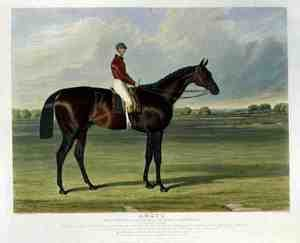 Realism painting reproductions: 'Amato', the Winner of the Derby Stakes at Epsom, 1838