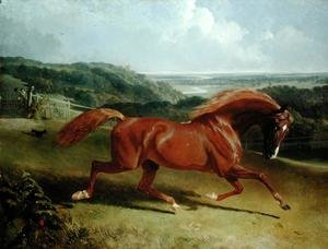 Famous paintings of Palisades: Galloping Horse in a Landscape