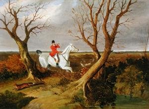 Realism painting reproductions: The Suffolk Hunt - Gone Away