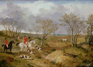 Famous paintings of Palisades: The Cambridgeshire Hunt: Gone Away