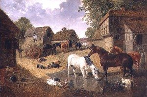 Famous paintings of Ducks: Loading the Hay Wagon