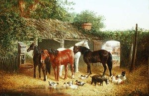 Famous paintings of Palisades: Farmyard Companions