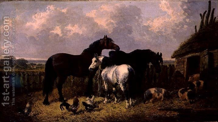 Huge version of Horses and Pigs, 1864
