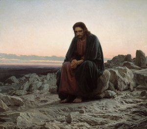 Realism painting reproductions: Christ in the Wilderness, 1873