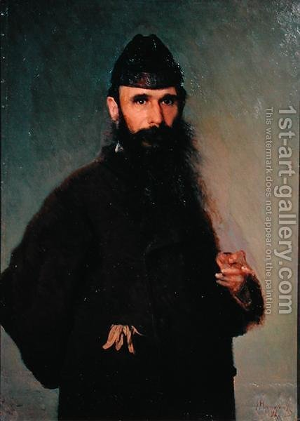 Portrait of Alexander Litovtchenko (1835-90), 1878 by Ivan Nikolaevich Kramskoy - Reproduction Oil Painting