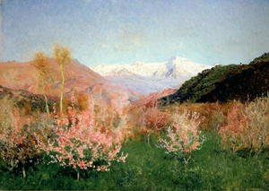 Realism painting reproductions: Spring in Italy, 1890