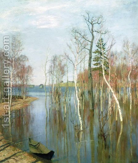 Spring, High Water, 1897 by Isaak Ilyich Levitan - Reproduction Oil Painting