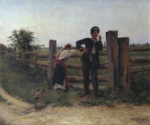 Famous paintings of Palisades: I am bored with you, 1897